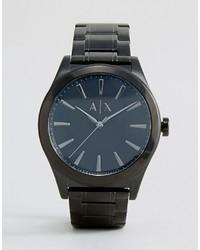 schwarze Uhr von Armani Exchange