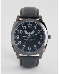 schwarze Uhr von Brave Soul