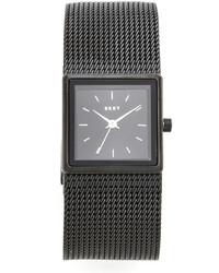 schwarze Uhr von DKNY