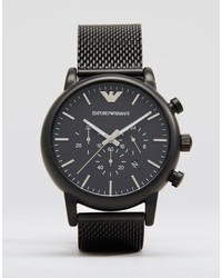 schwarze Uhr von Emporio Armani