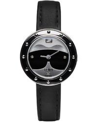 schwarze Uhr von Fendi