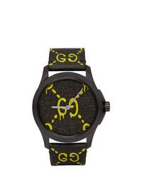 schwarze Uhr von Gucci