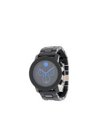 schwarze Uhr von Movado