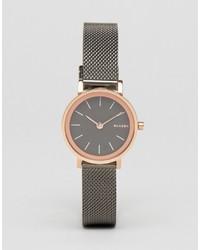 schwarze Uhr von Skagen