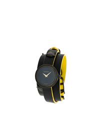 schwarze Uhr von Versace