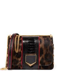 schwarze Umhängetasche mit Leopardenmuster von Jimmy Choo