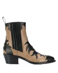 schwarze und gelbbraune Leder Stiefeletten von Sartore