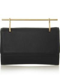 schwarze und goldene Leder Clutch von M2Malletier