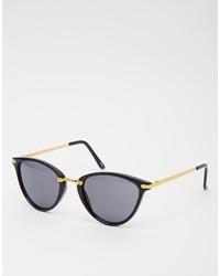 schwarze und goldene Sonnenbrille von Asos