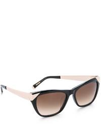 schwarze und goldene Sonnenbrille von Cat Eye