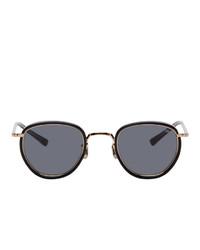 schwarze und goldene Sonnenbrille von Eyevan 7285