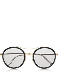 schwarze und goldene Sonnenbrille von Gucci