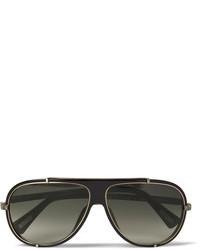 schwarze und goldene Sonnenbrille von Lanvin