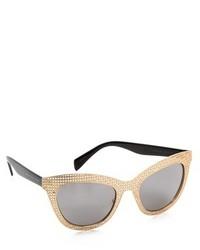 schwarze und goldene Sonnenbrille von Marc by Marc Jacobs