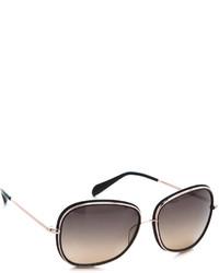 schwarze und goldene Sonnenbrille von Oliver Peoples
