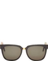 schwarze und goldene Sonnenbrille von Super