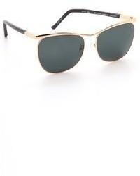 schwarze und goldene Sonnenbrille von The Row