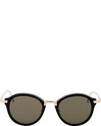 schwarze und goldene Sonnenbrille von Thom Browne