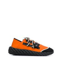 schwarze und orange Sportschuhe von Giuseppe Zanotti Design