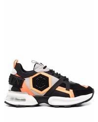 schwarze und orange Sportschuhe von Philipp Plein