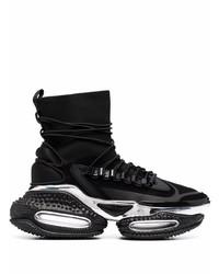 schwarze und silberne Sportschuhe von Balmain