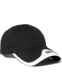 schwarze und weiße Baseballkappe von Balenciaga