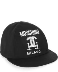 schwarze und weiße Baseballkappe von Moschino