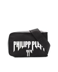 schwarze und weiße Bauchtasche von Philipp Plein