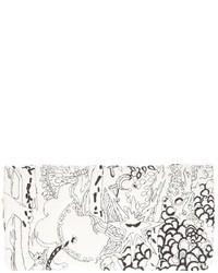schwarze und weiße bedruckte Clutch von Tsumori Chisato