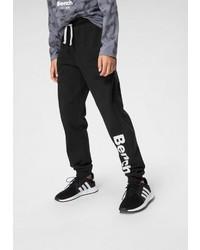 schwarze und weiße bedruckte Jogginghose von Bench