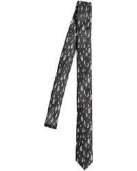 schwarze und weiße bedruckte Krawatte