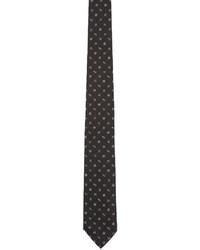 schwarze und weiße bedruckte Krawatte von Kenzo