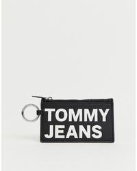 schwarze und weiße bedruckte Leder Clutch von Tommy Jeans