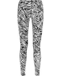 schwarze und weiße bedruckte Leggings von Nike