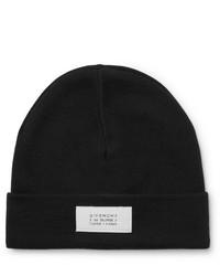 schwarze und weiße bedruckte Mütze von Givenchy