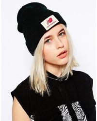 schwarze und weiße bedruckte Mütze von New Balance