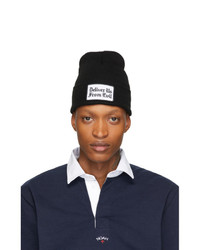 schwarze und weiße bedruckte Mütze von Noah NYC