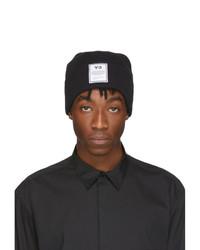 schwarze und weiße bedruckte Mütze von Y-3