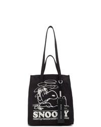 schwarze und weiße bedruckte Shopper Tasche aus Segeltuch von Marc Jacobs