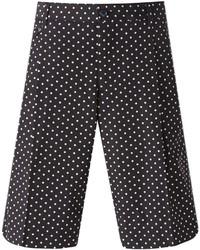schwarze und weiße bedruckte Shorts von Dolce & Gabbana