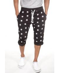 schwarze und weiße bedruckte Shorts von FIOCEO
