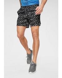 schwarze und weiße bedruckte Shorts von Nike