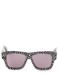 schwarze und weiße bedruckte Sonnenbrille von Dita Eyewear