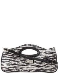 schwarze und weiße bedruckte Taschen