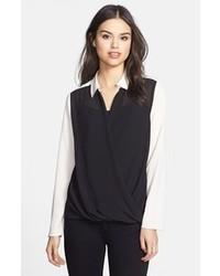 Schwarze und weisse bluse mit knoepfen original 4300491