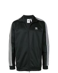 schwarze und weiße Bomberjacke von adidas