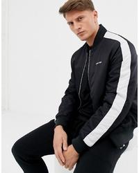 schwarze und weiße Bomberjacke von Calvin Klein