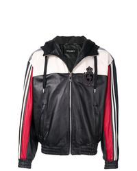 schwarze und weiße Bomberjacke von Dolce & Gabbana