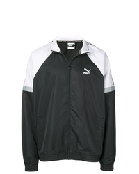 schwarze und weiße Bomberjacke von Puma