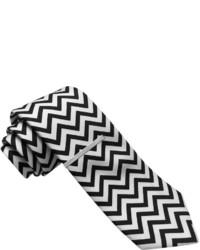 schwarze und weiße Chevron Krawatte